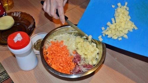 Ханума с мясом и картошкой