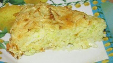 Быстрый капустный пирог (заливной)