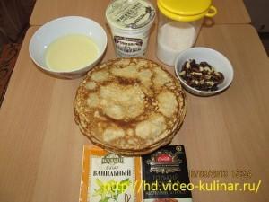 Ингредиенты блинного торта