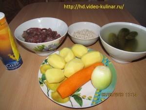 Ингредиенты к рассольнику