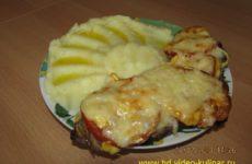Мясо по-французски с сыром в духовке