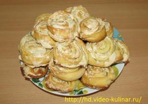 Видео рецепт вкусных пирожных Улитка