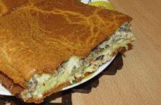 Быстрый рыбный пирог из консервов