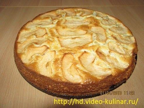 шарлотка с яблоками на соде рецепт приготовления