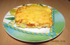 Мясная запеканка «Сытная»: с сыром и овощами
