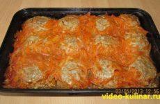 Тефтели с рисом в духовке, с подливкой