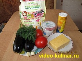 Ингредиенты баклажанового веера