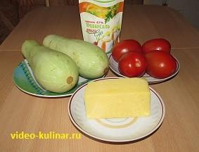 Запеченые кабачки с сыром