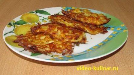 Драники из картошки с сыром