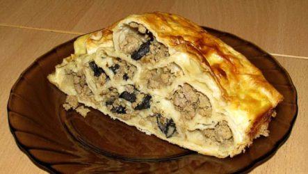 Мясной пирог «МОНАСТЫРСКАЯ ИЗБА»