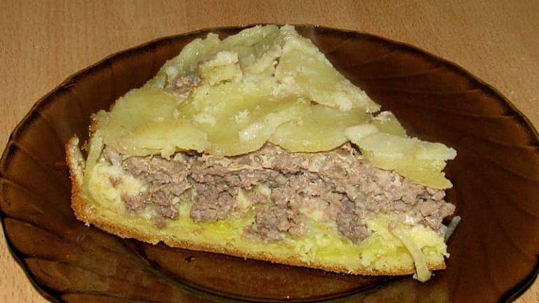 Заливной мясной пирог с фаршем рецепт