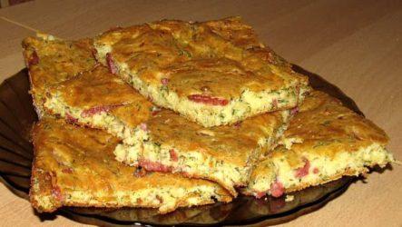 Быстрая ленивая пицца в духовке на кефире