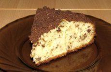 Ореховый кекс на кефире