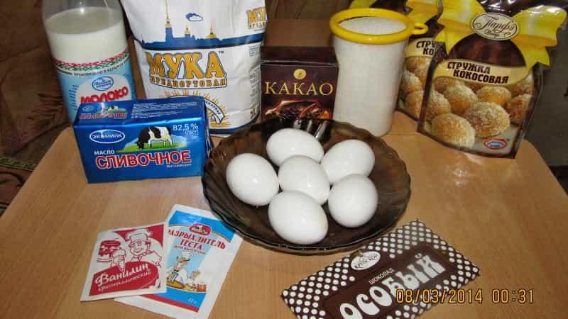 Торт Баунти состав продуктов