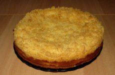 Лимонный пирог с штрейзелем