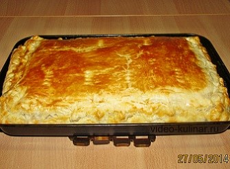 пирог с рисом и рыбой из консервы рецепт с фото