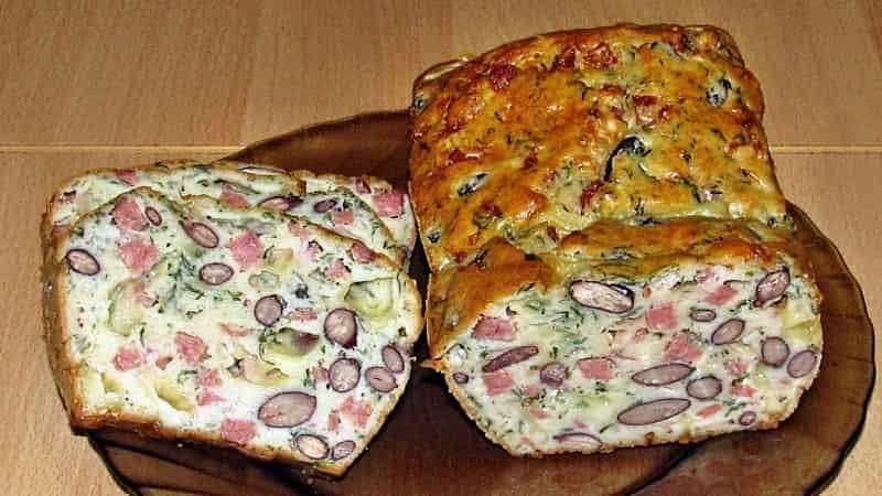 Мясной кекс с фасолью