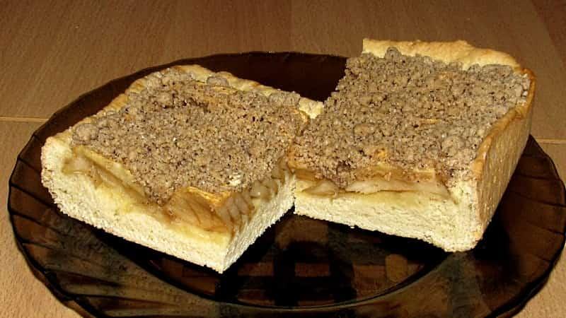 Яблочный пирог с штрейзелем