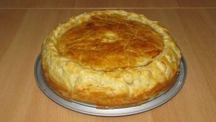 Слоеный пирог «Галета»: с сочным омлетом
