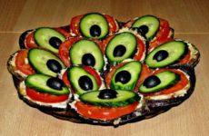 «Хвост павлина»— красивый салат-закуска