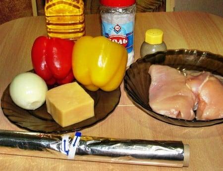 Ингредиенты для куриного рулета
