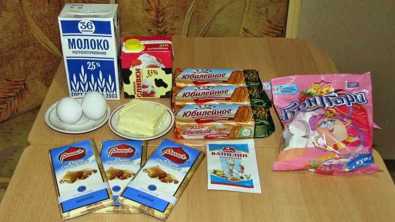 Ингредиенты для торта Жираф