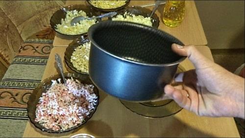 Формы для крабового салата