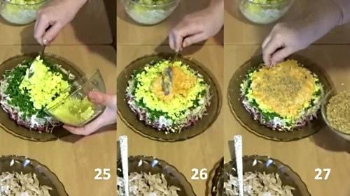 Яйцо в салат Шапка Мономаха