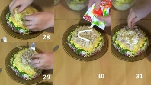 Шапка Мономаха - еще слой сыра и мяса