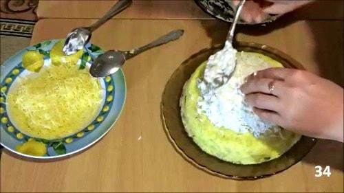 Покрыть шапку мономаха белком