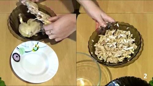 Мясо для салата Шапка Мономаха