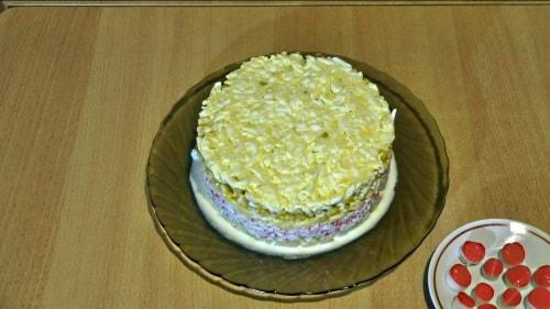 Салат из крабовых палочек без декора