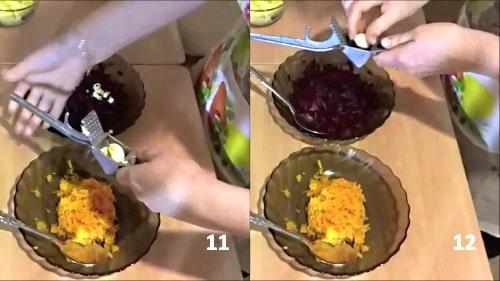 Чеснок для салатаШапки мономаха