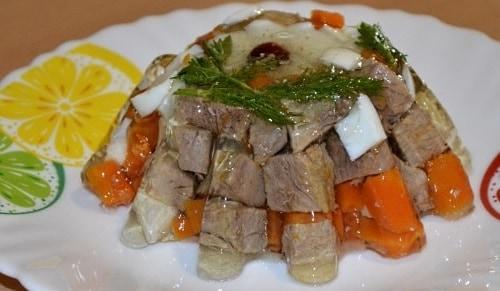 Заливное из говядины с желатином