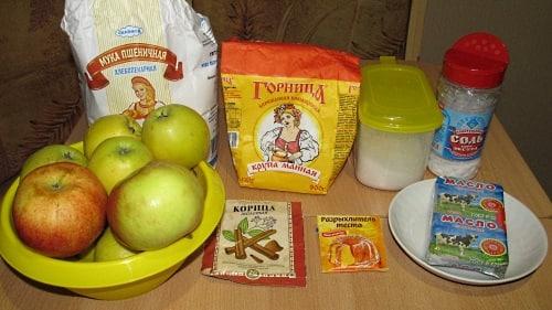 Ингредиенты для насыпного пирога