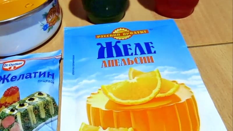 Апельсиновое желе в порошке