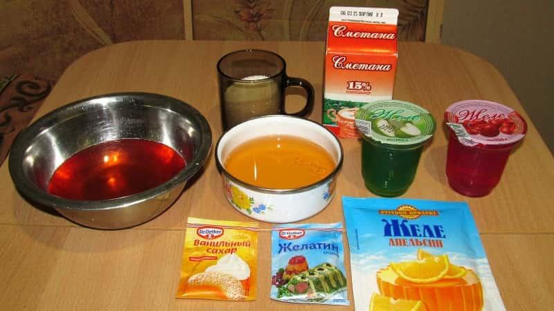 Ингредиенты для торта Битое стекло