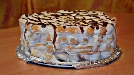 Торт «Дамские пальчики» со сметанным кремом