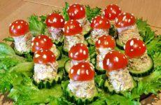 Закуска «Мухоморчики»: праздничный салат
