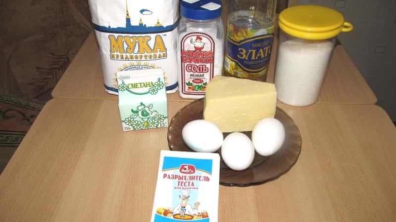 Ингредиенты для сырного хлеба
