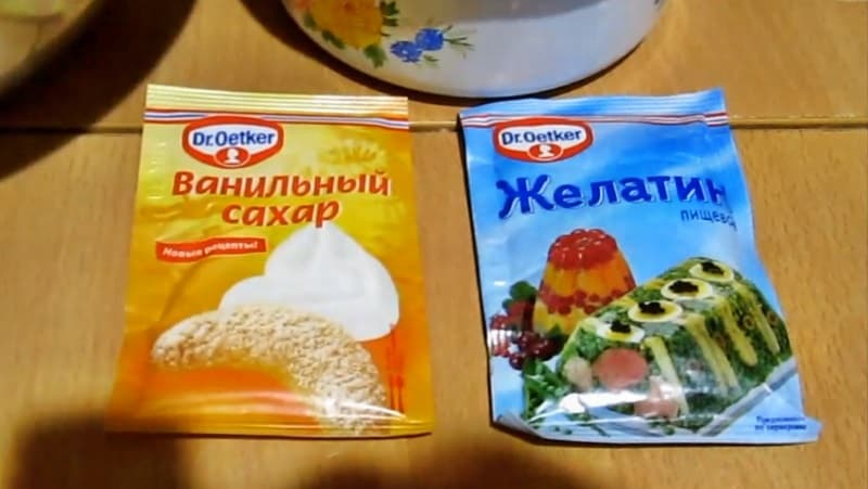 Ванильный сахар и желатин для торта Битое стекло