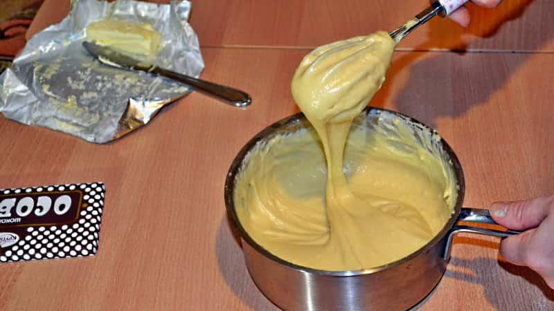 Заварное тесто для торта Дамские пальчики