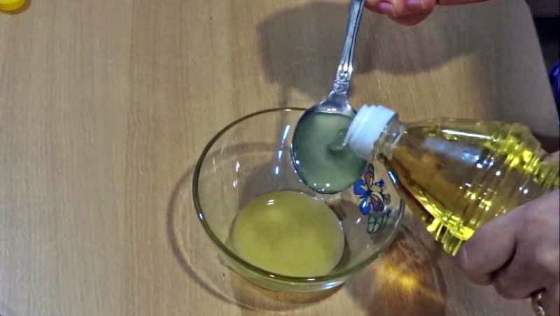 Масло в маринованные кабачки