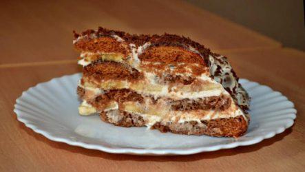 Торт из пряников и сметаны без выпечки